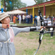 Stock Photo: Archery coaching