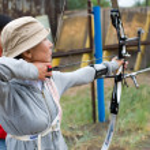 Archery coaching — Stock Photo