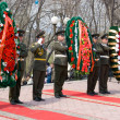Wreath-laying ceremony — Stock Photo