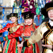 Mongolian dancers at Shrovetide — Stock Photo