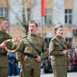 Actors on Victory Day — Stock Photo