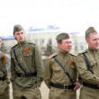 Stock Photo: Actors on Victory Day