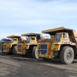 Giant trucks for coal transportation — Stock Photo #8023197