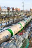 Railway transportation of oil — Stock Photo