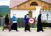 Afternoon icon-bearing procession — Stock Photo