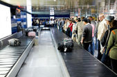 Luggage claim area at airport — Stock Photo
