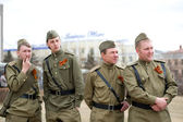 Actors on Victory Day — Foto de Stock