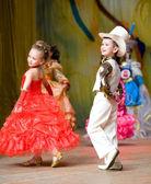 Children's beauty contest — Stock Photo
