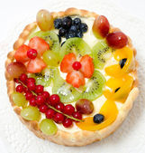 Fruit and berry cake — Stock Photo