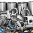 Lots of auto spare parts — Stock Photo #8116671