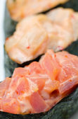 Spicy tuna sushi, macro — Stock Photo