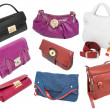 Ladies handbags set — Stock Photo