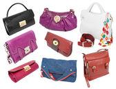 Ladies handbags set — Stock Photo