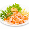 Salmon snack, clipping path - Stock Photo