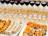 Sushi buffet — Stock Photo