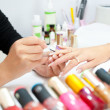 Manicure procedure, closeup — Stock Photo