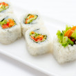 Vegetarian sushi rolls — Stock Photo #9241784