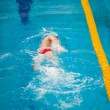 Swimmer swims — Stock Photo