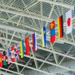 State flags under stadium ceiling — Stock Photo #9241987