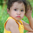 Angry little girl — Stock Photo