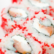 Sushi rolls california, macro — Stock Photo