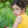 Offended child girl — Stock Photo