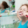 Teeth brushing — Stock Photo