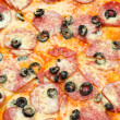 Stock Photo: Peperoni pizza, closeup