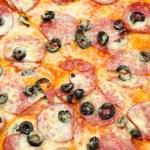 Peperoni pizza, closeup — Stock Photo