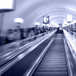 Escalator in metro — Stock Photo