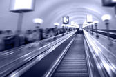 Escalator in metro — Foto Stock