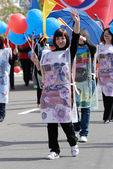 Women in paper money — Stock Photo
