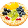 Fruit and berry tart - Stock Photo