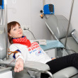 Stock Photo: Blood donor