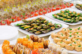 A buffet table — Stock Photo