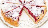 Cherrry charlotte cake — Stock Photo