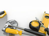Tools. Hammer, screwdriver, wrench and other — Stock Photo