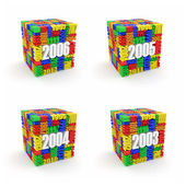 Año nuevo 2006, 2005, 2004, 2003. — Foto de Stock