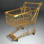 Empty shopping basket. 3d — Stock Photo