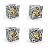 новый год 2006, 2005, 2004, 2003. — Стоковое фото