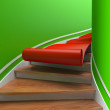 Red carpet on spiral staircases — Stock Photo #8403355