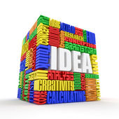 Idea. The concept of the words. 3d — Stock Photo