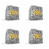 Nuovo anno 2006, 2005, 2004, 2003. — Foto Stock