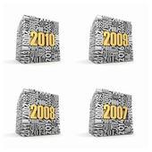 New year 2010, 2009, 2008, 2007. — Stock Photo
