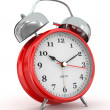 Ten o'clock. Old-fashioned alarm clock. 3d — Photo