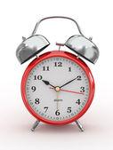 Ten o'clock. Old-fashioned alarm clock. 3d — Foto de Stock