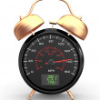 Speeding. Speedometer as alarm clock face — 图库照片