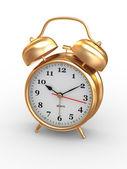 Десять часов. Старомодный будильник. 3D — Стоковое фото