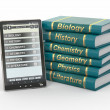 E-book reader. Textbooks and tablet pc. — Stock Photo #9682703