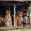 Traditional asian wooden souvenir shop - 图库照片